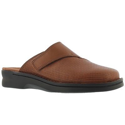 Lds Patty Tayna dark tan casual clog
