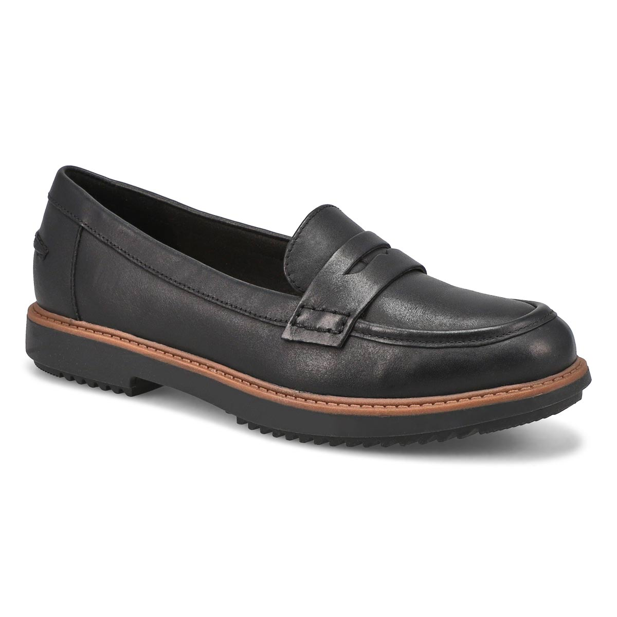 Lds Raisie Eletta blk lthr casual loafer