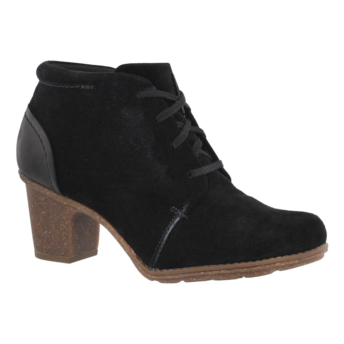 Lds Sashlin Sue blk lace up bootie