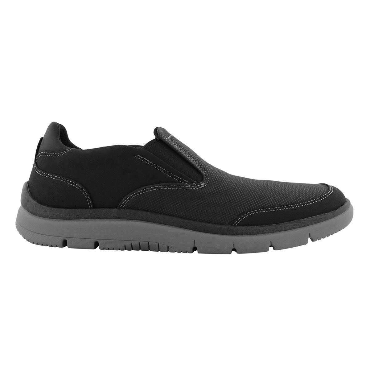 Mns Tunsil Step blk casual slip on shoe