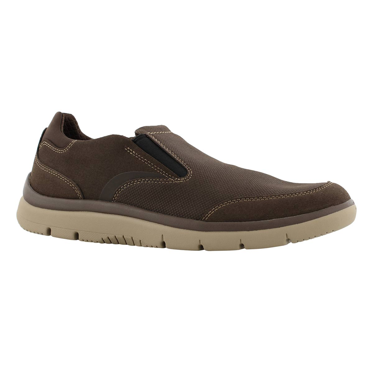 Mns Tunsil Step brn casual slip on shoe