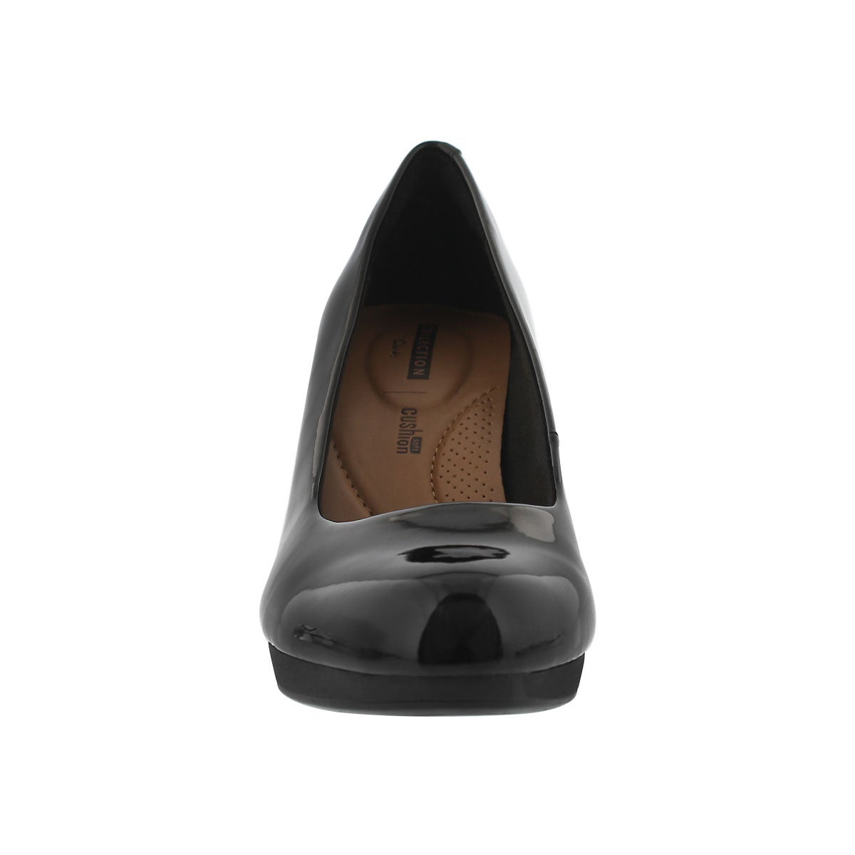 Lds Adriel Viola black patent dress heel