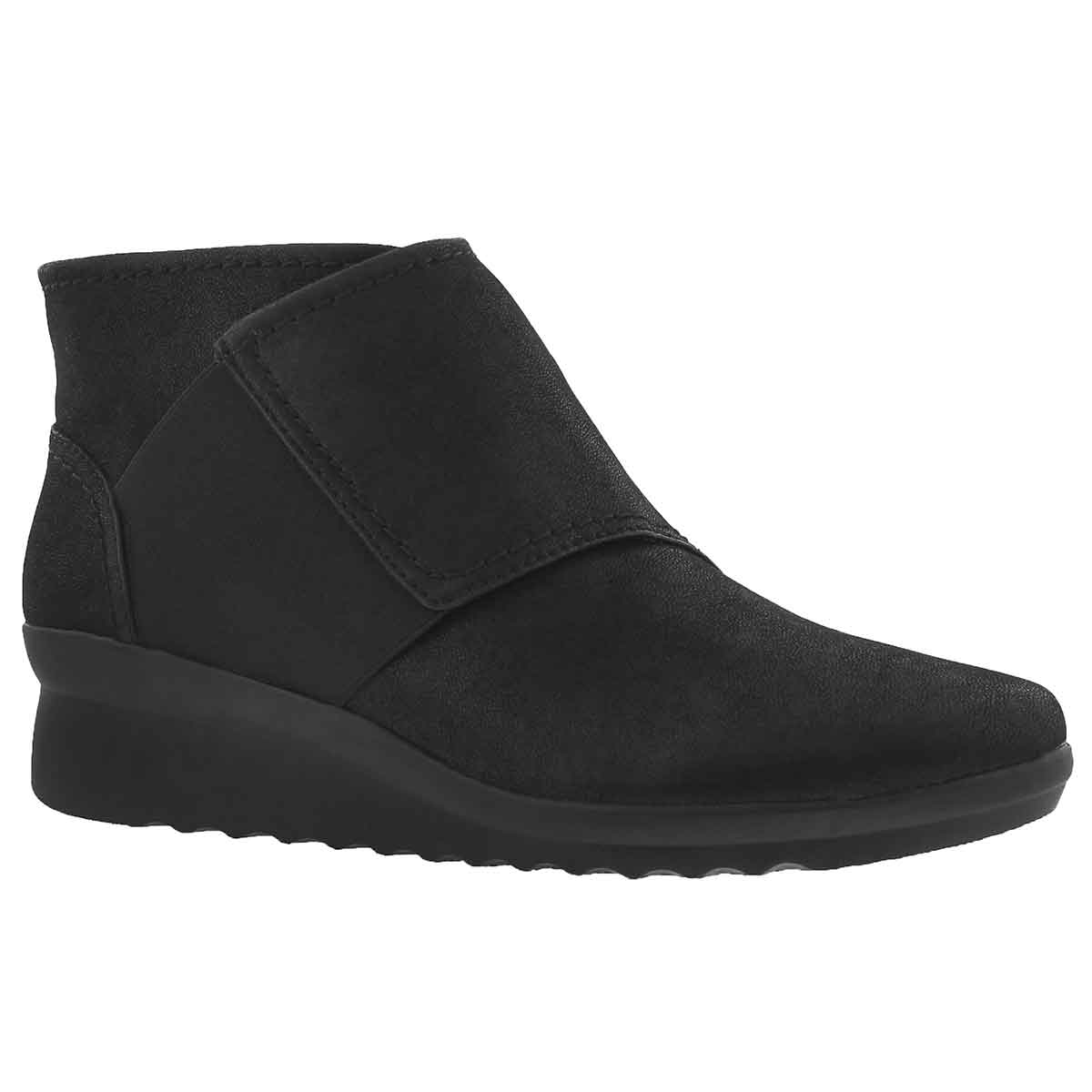 Women's CADDELL RUSH black wedge boots