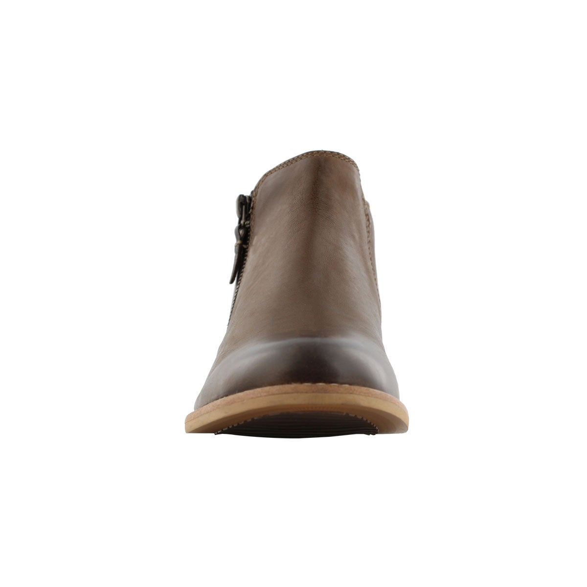 Lds Maypearl Juno brown lthr ankle boot