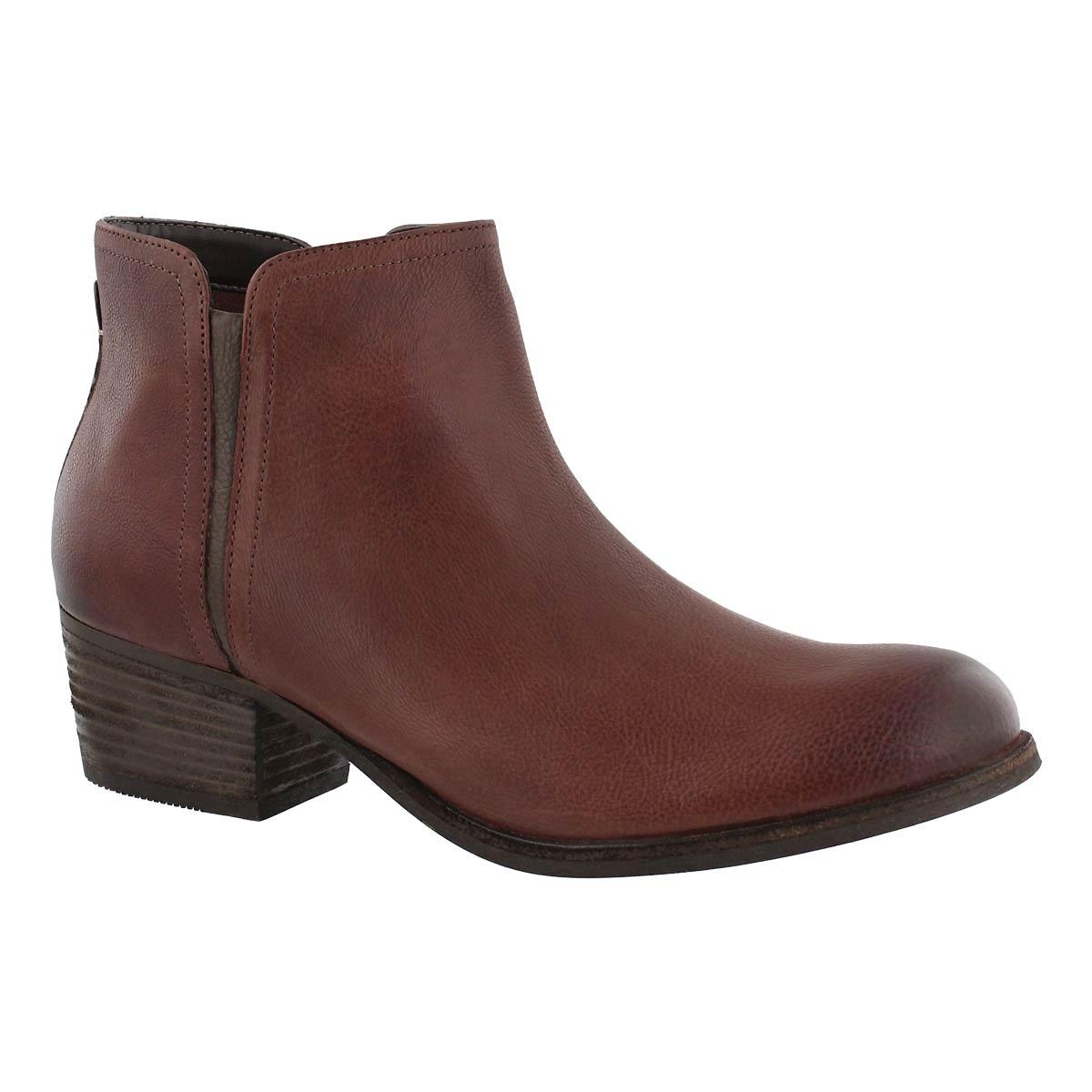 Women's MAYPEARL RAMIE mohogany slip on booties