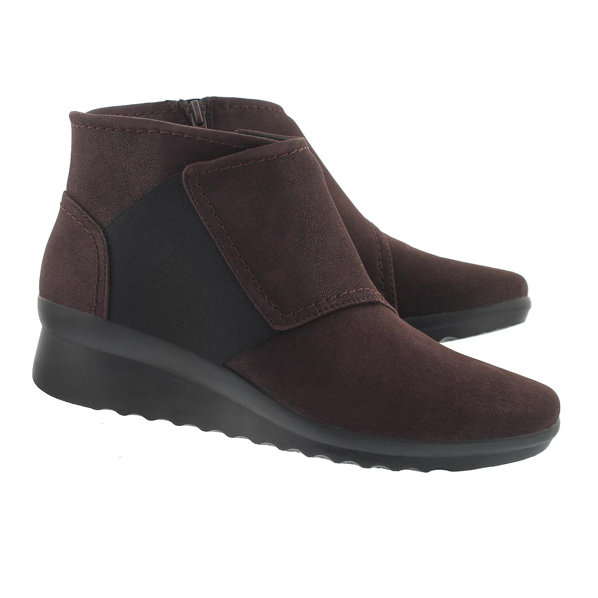 Lds Caddell Rush burgundy wedge boot