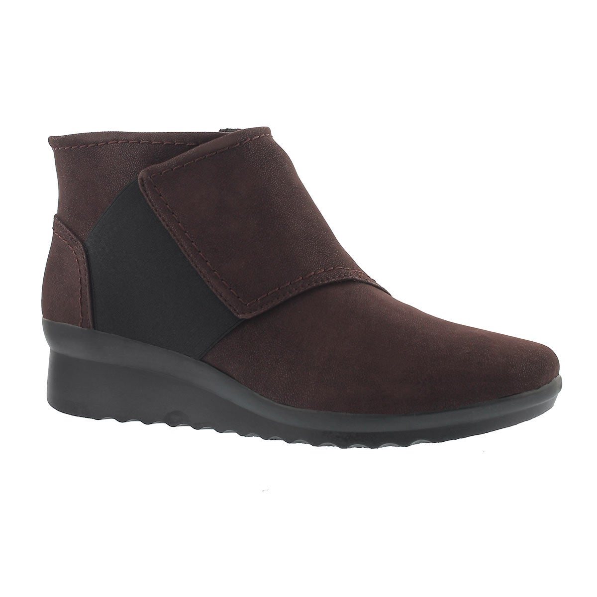 Women's CADDELL RUSH burgundy wedge boots