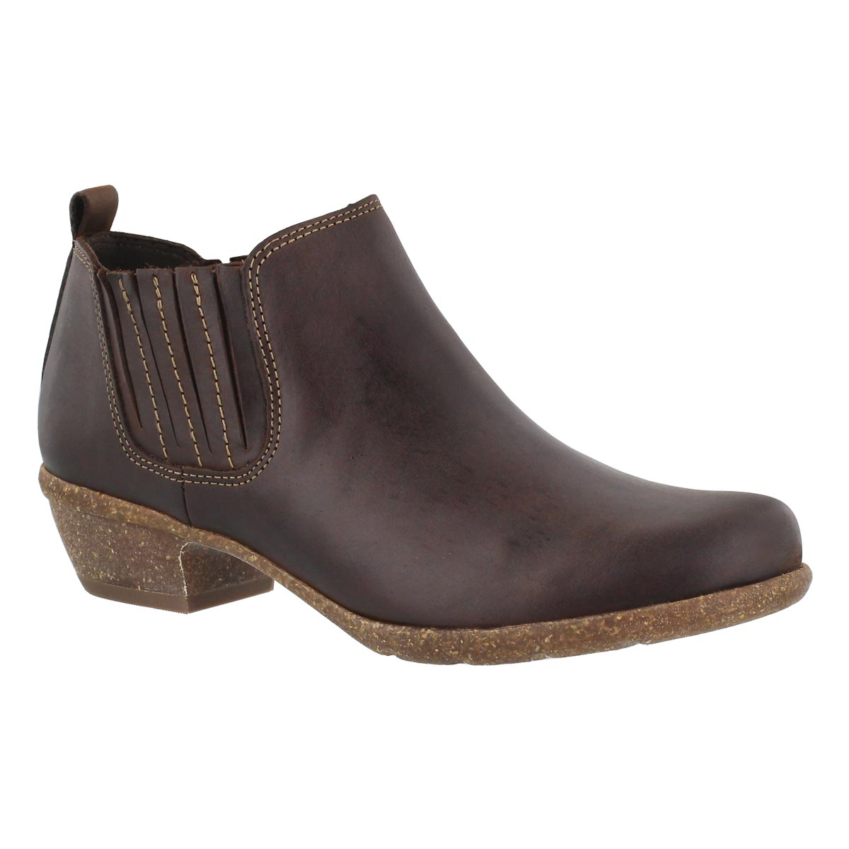 Lds Wilrose Jade brn slip on casual boot