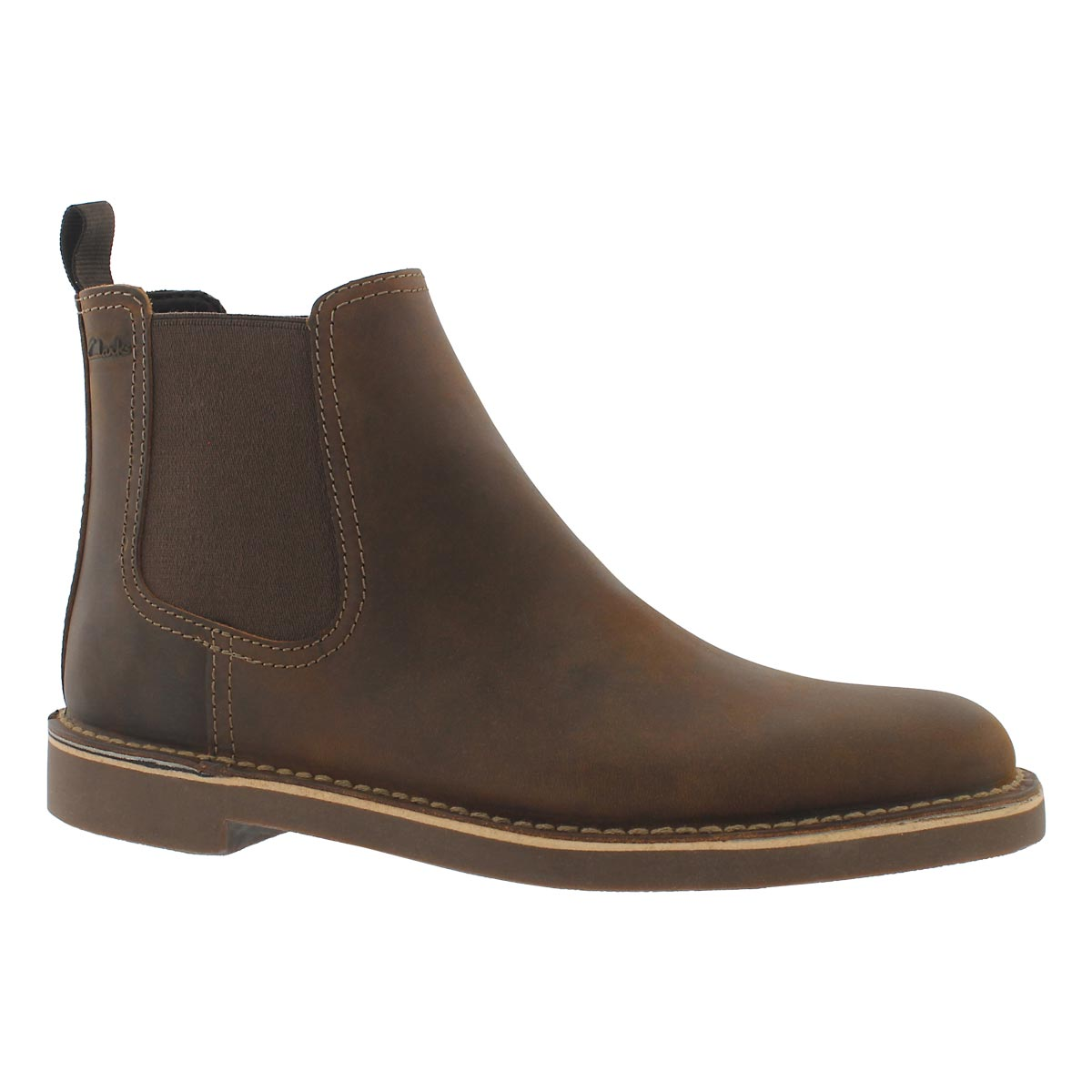 49ae7011985 Clarks Men's BUSHACRE HILL beeswax chelsea bo | Softmoc.com