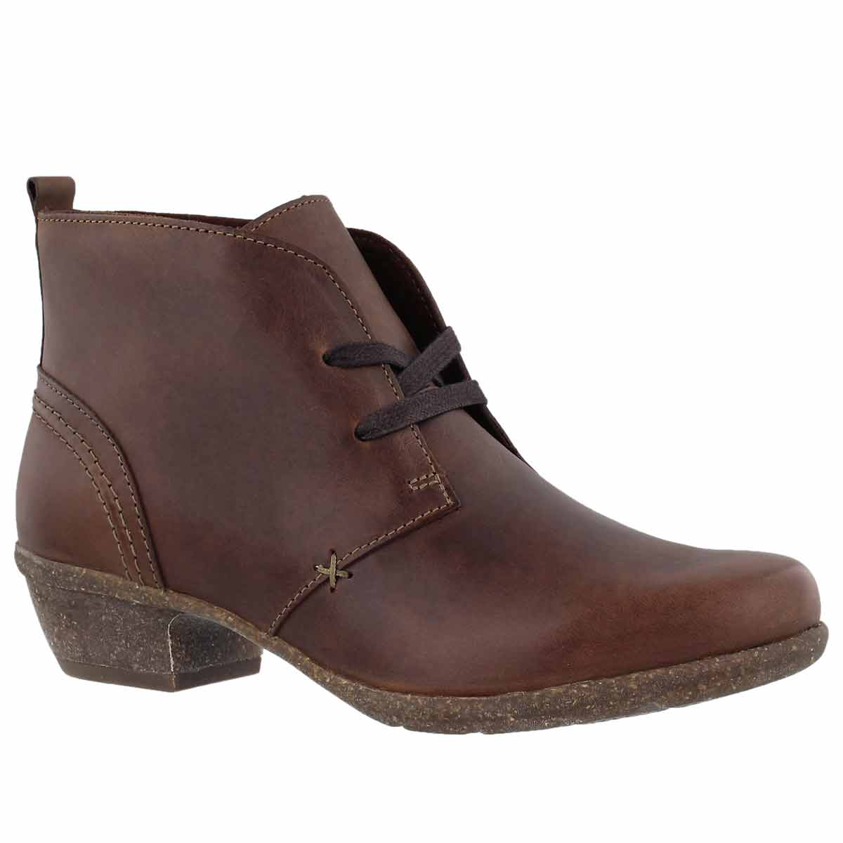 Women's WILROSE SAGE brown lace up booties