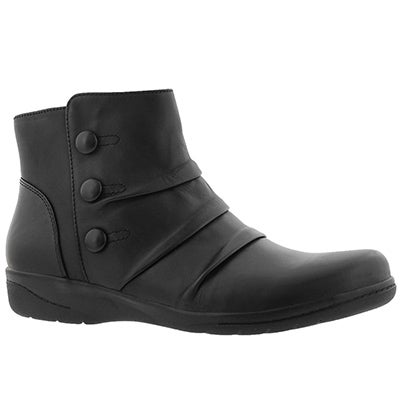 Lds Cheyn Anne black casual ankle boot