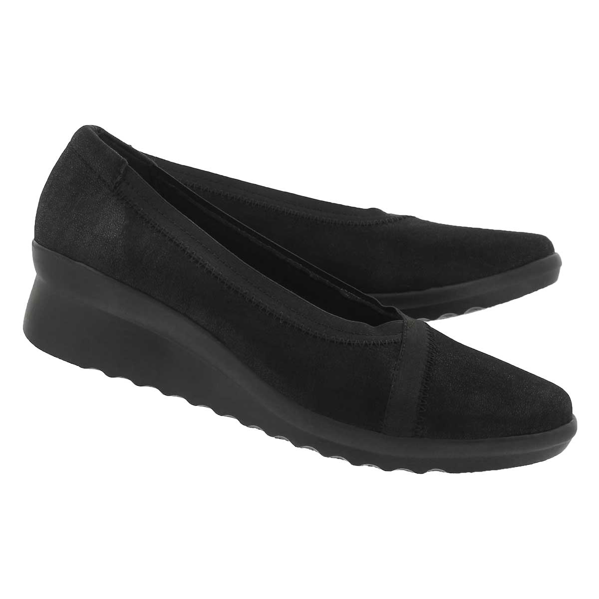 Lds Caddell Dash black wedge slip on