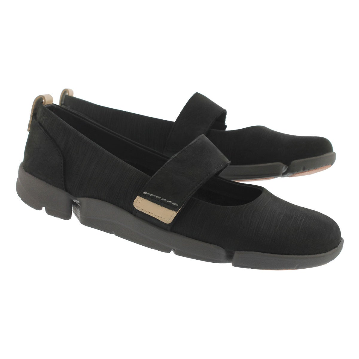 Lds Tri Carrie black casual mary jane