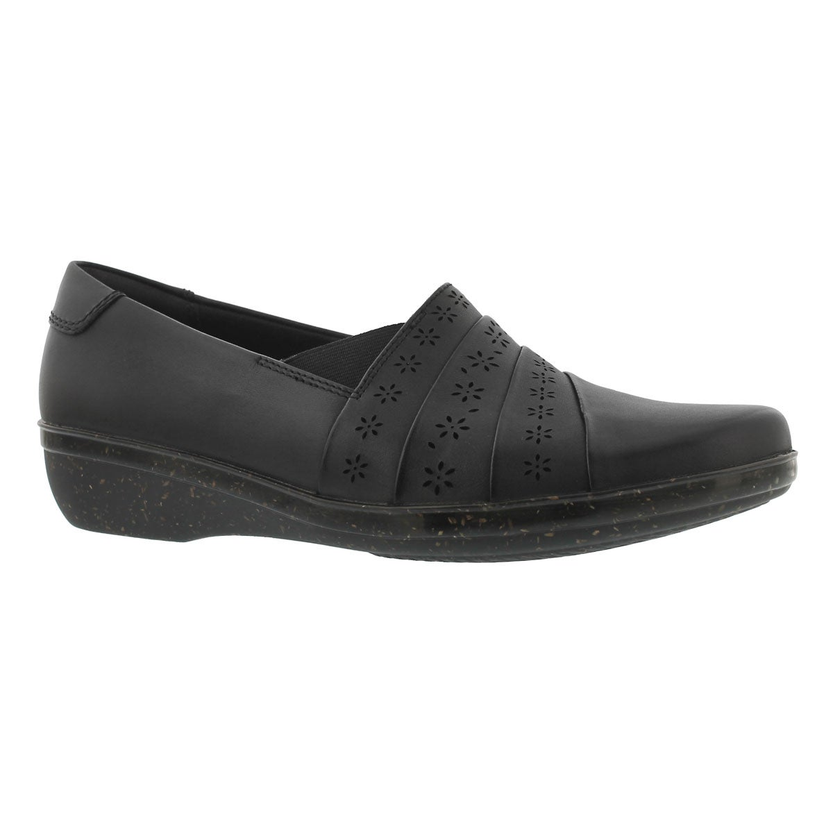 Lds Everlay Uma blk casual slip on- WIDE