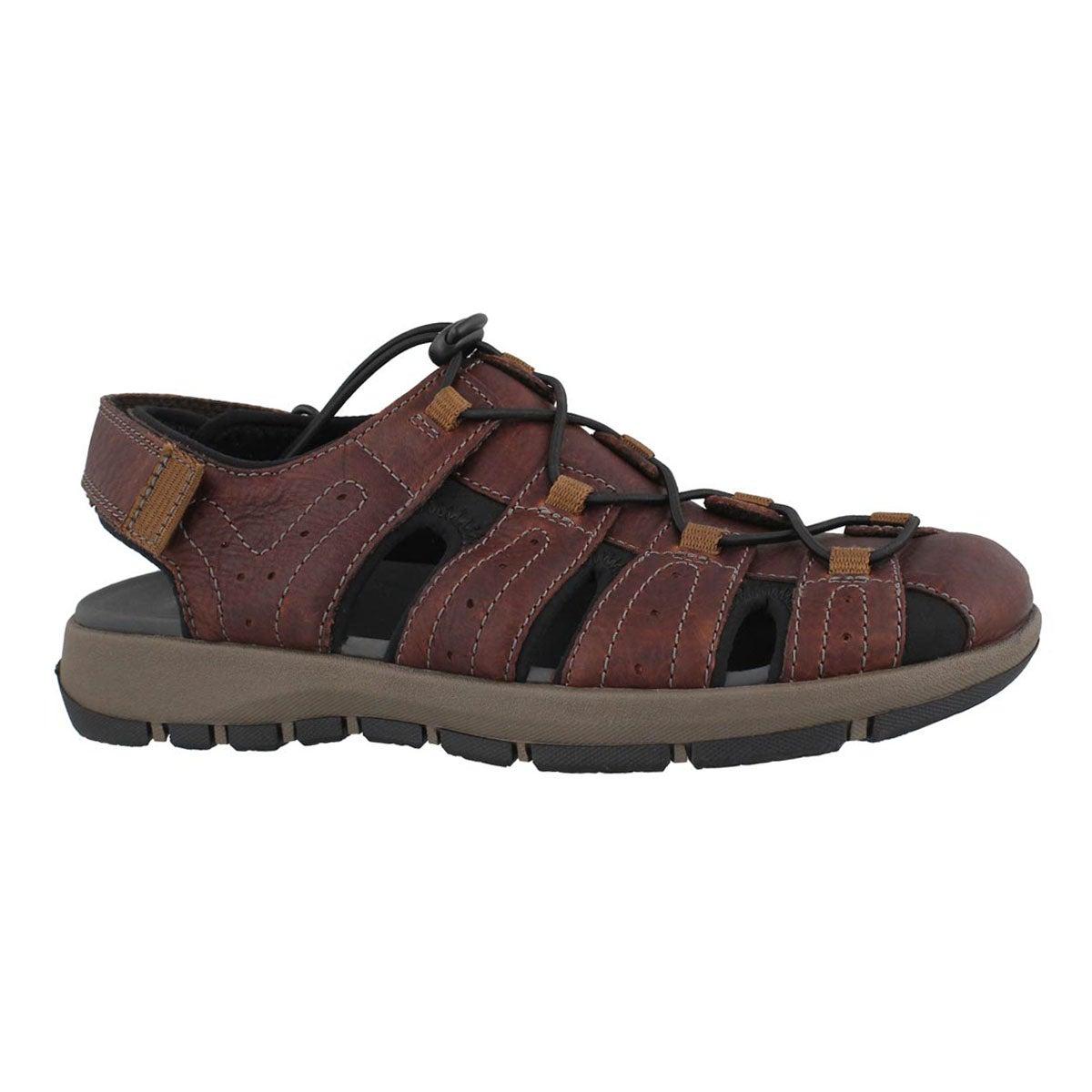 Men's BRIXBY COVE dark brown fisherman sandals