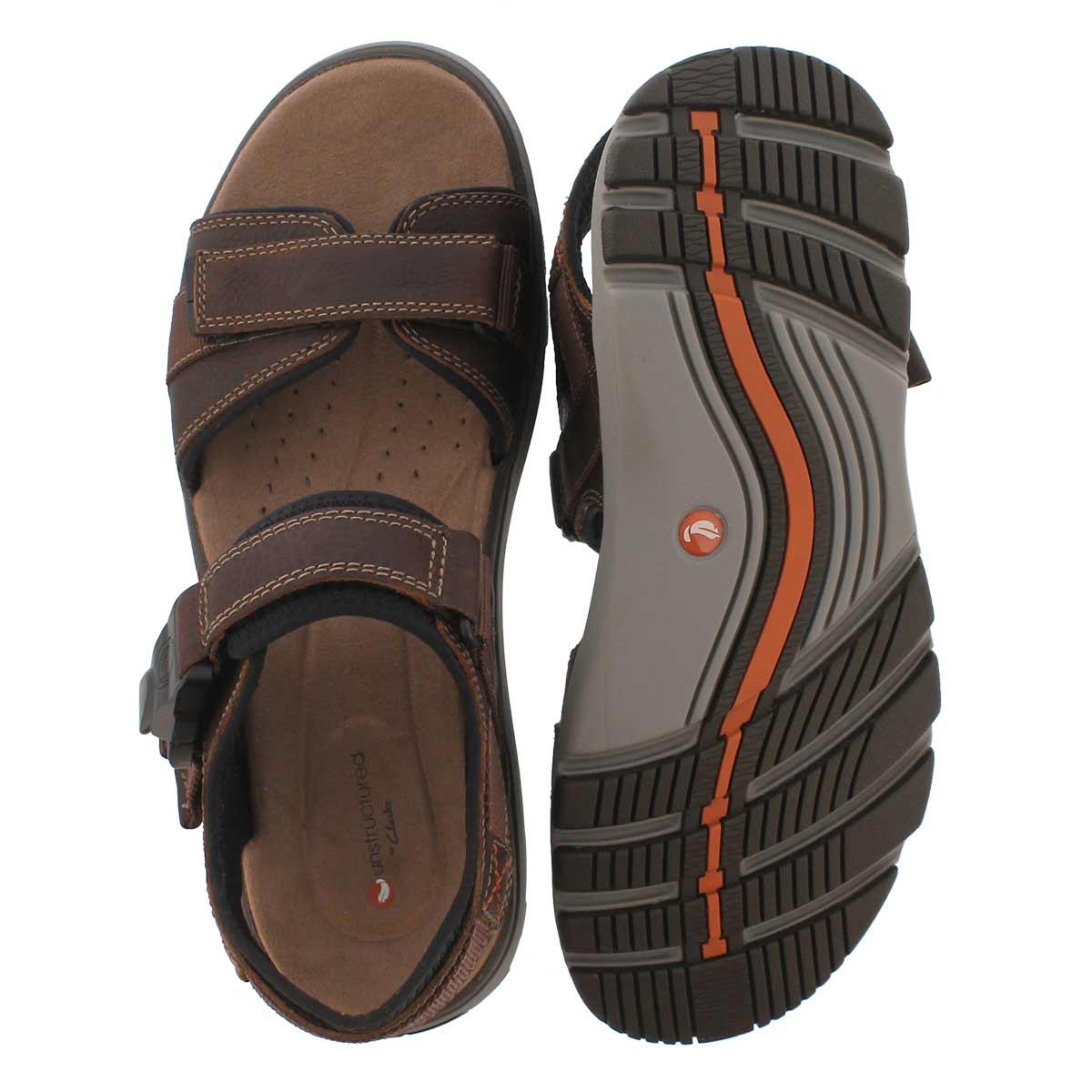 Mns UnTrek Part dk tan casual sandal