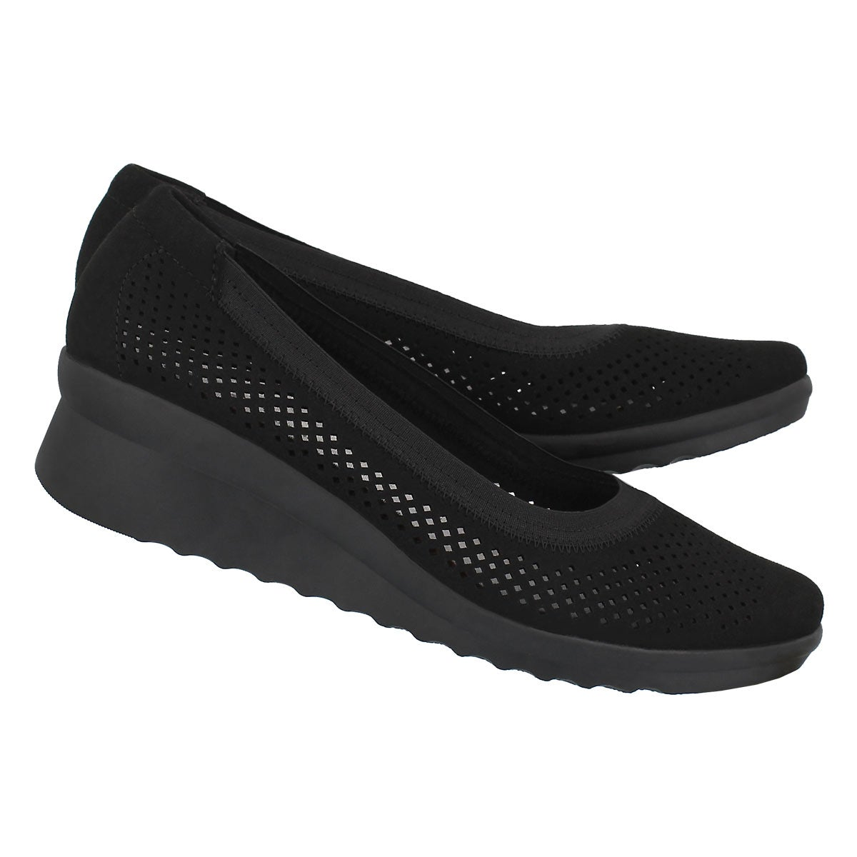 Lds Caddell Trail black wedge slip on