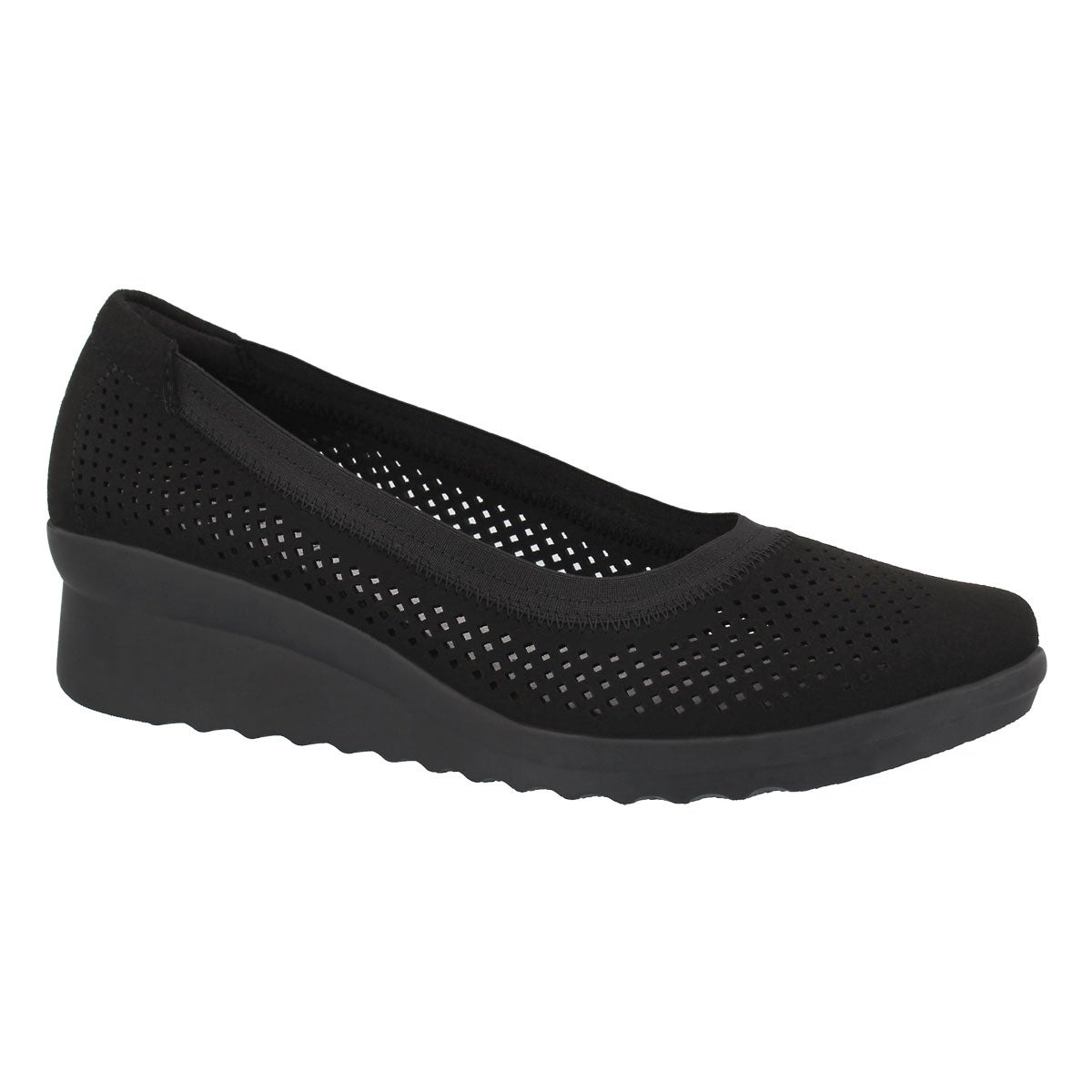 349349c605d8 Clarks Women s CADDELL TRAIL black wedge slip