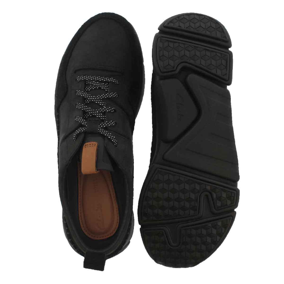Mns Tri Active Run blk lace up sneaker