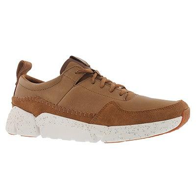 Mns Tri Active Run tan lace up sneaker