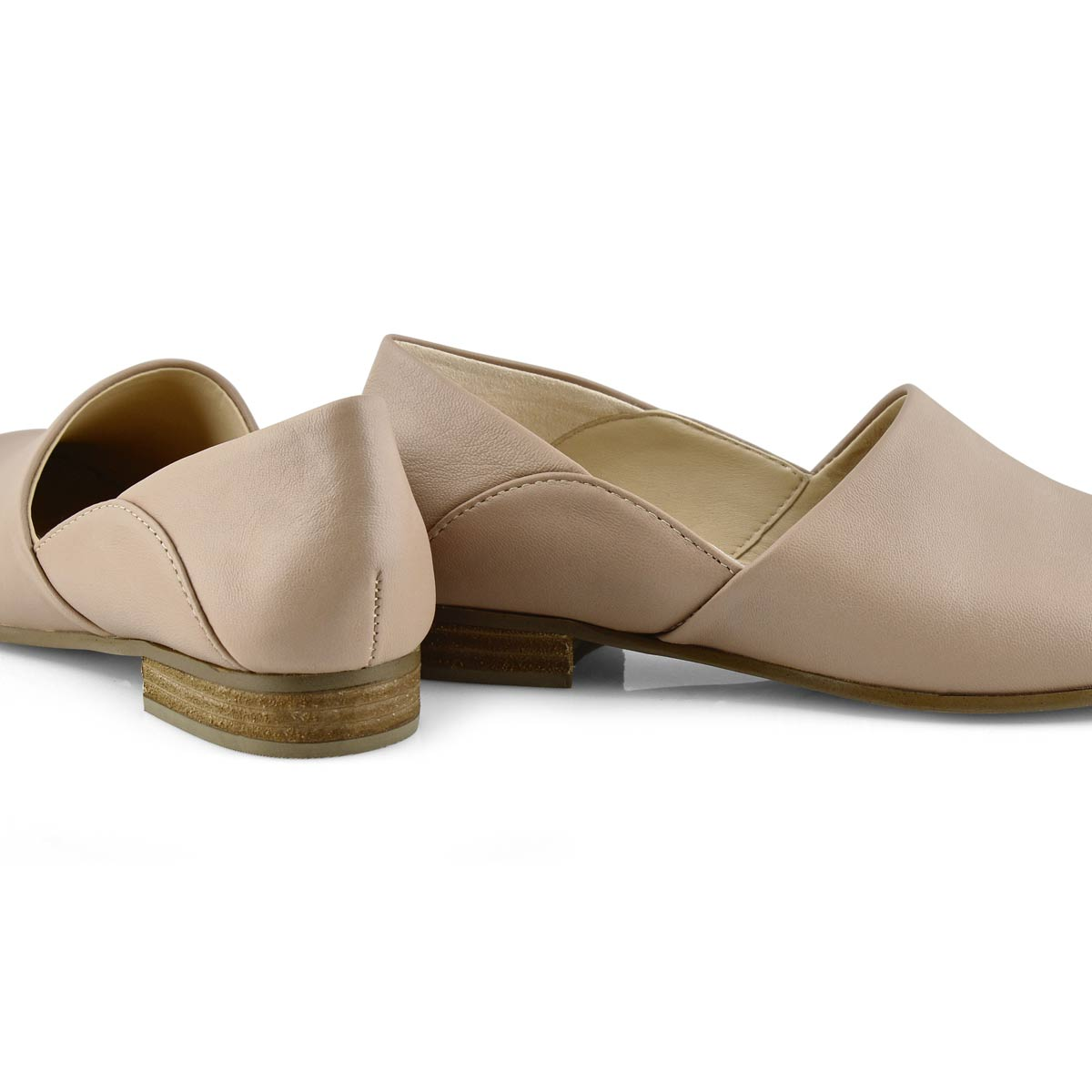 Lds Pure Tone nude dress loafer