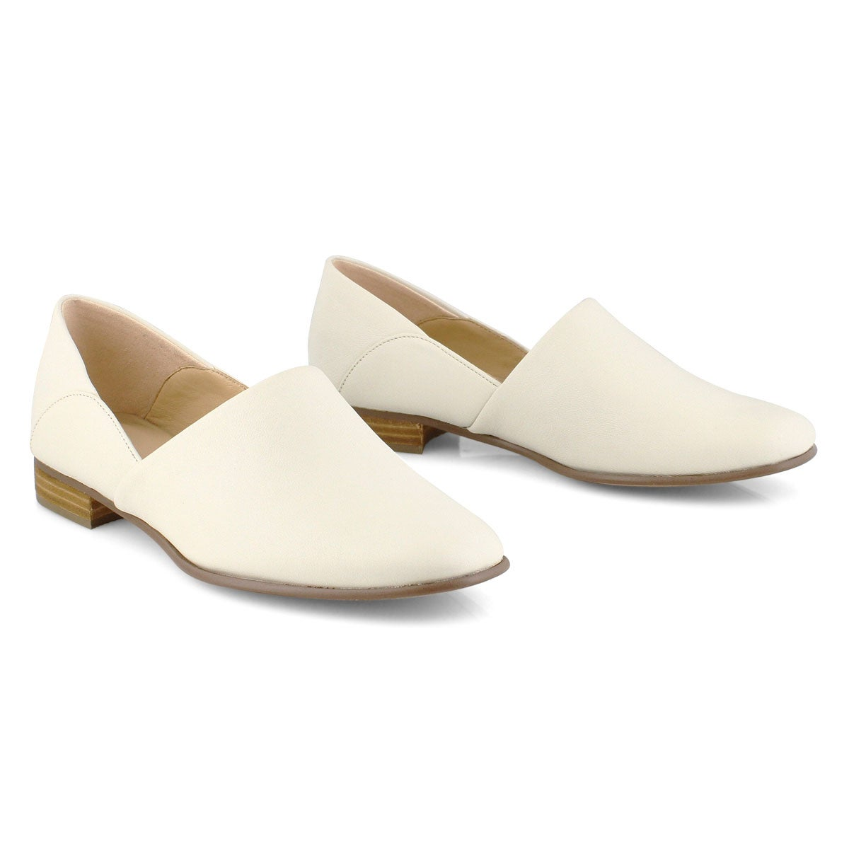 Lds Pure Tone white dress loafer