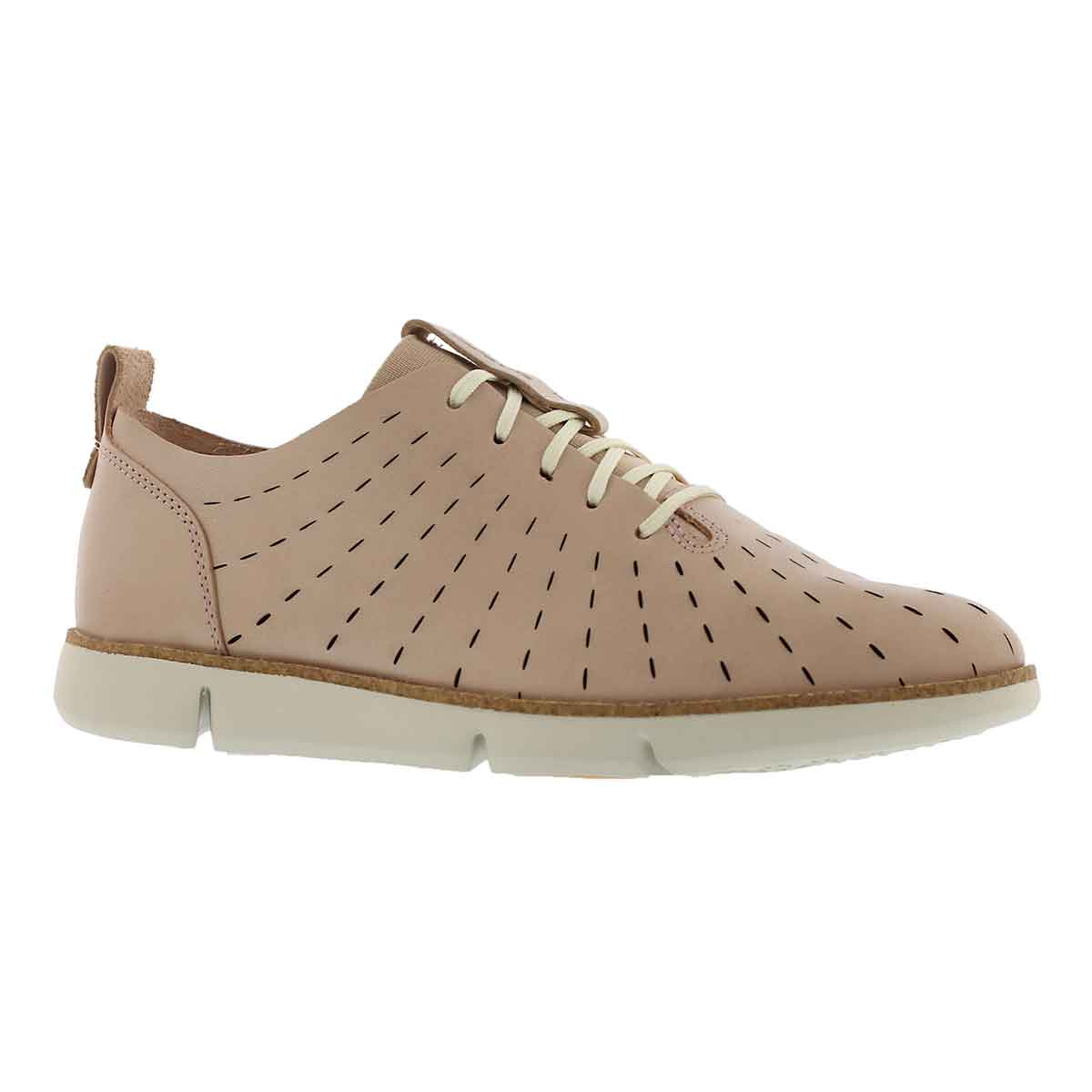Women's TRI ETCH nude pink lace up sneakers