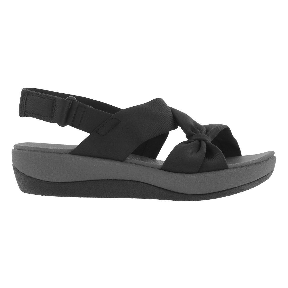 Lds Arla Primrose black wedge sandal