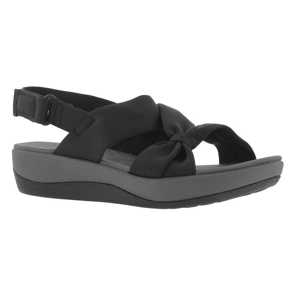 Women's ARLA PRIMROSE black wedge sandals