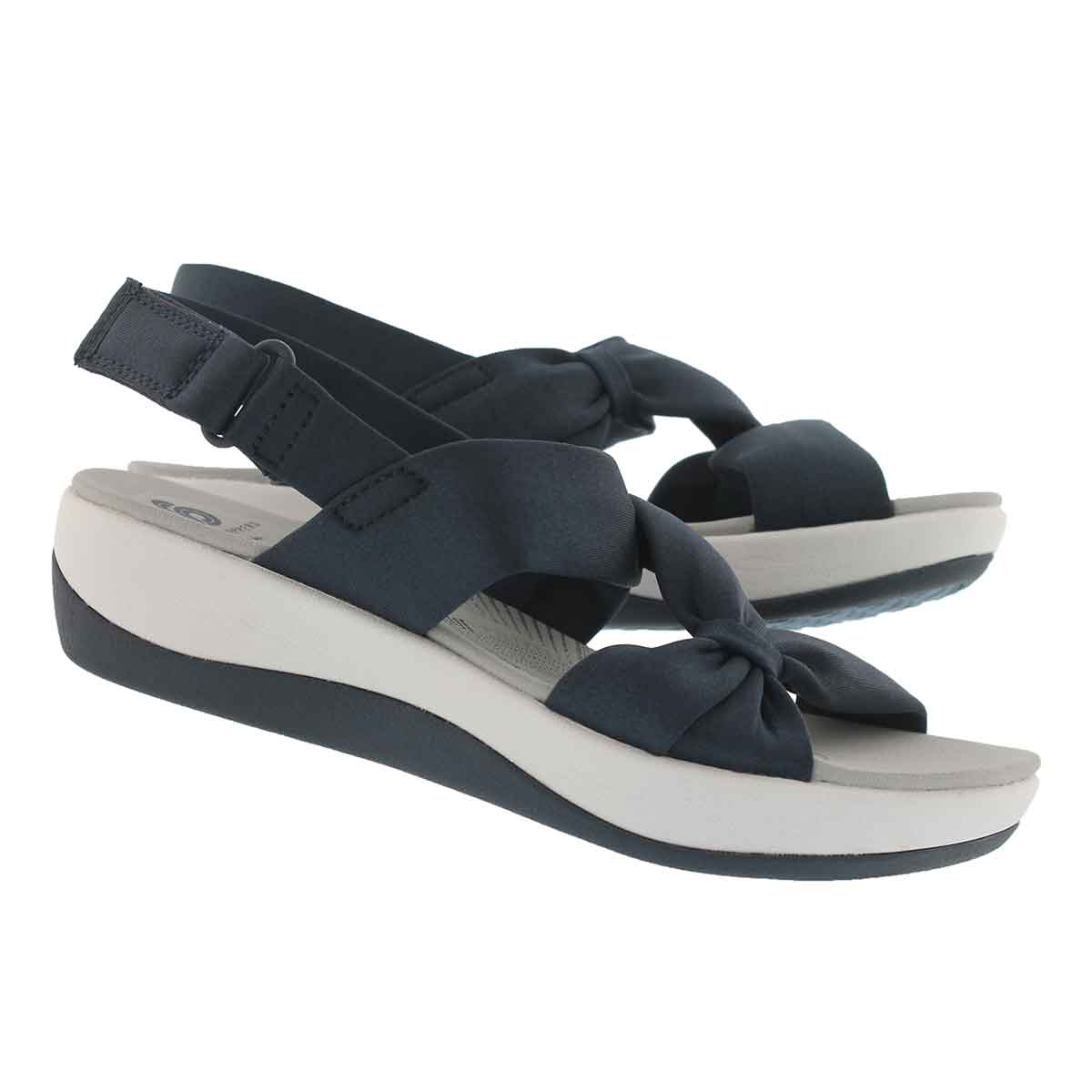 Lds Arla Primrose blue wedge sandal