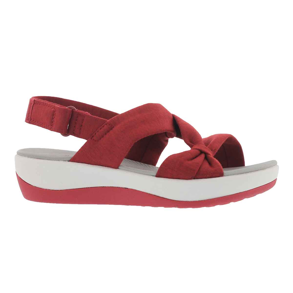 Lds Arla Primrose red wedge sandal