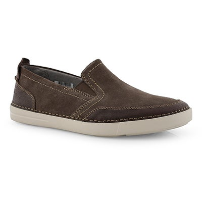 Mns Gosler Race taupe casual slip on