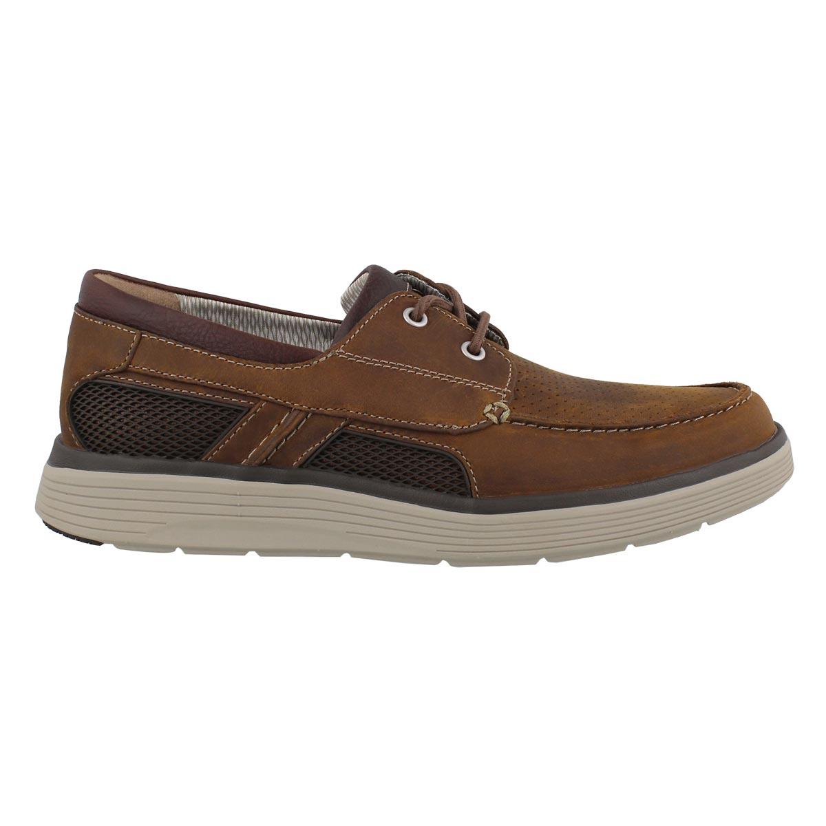 Mns UnAbode Step dk tan boat shoe