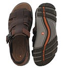 Mns UnTrek Cove dk tan casual sandal
