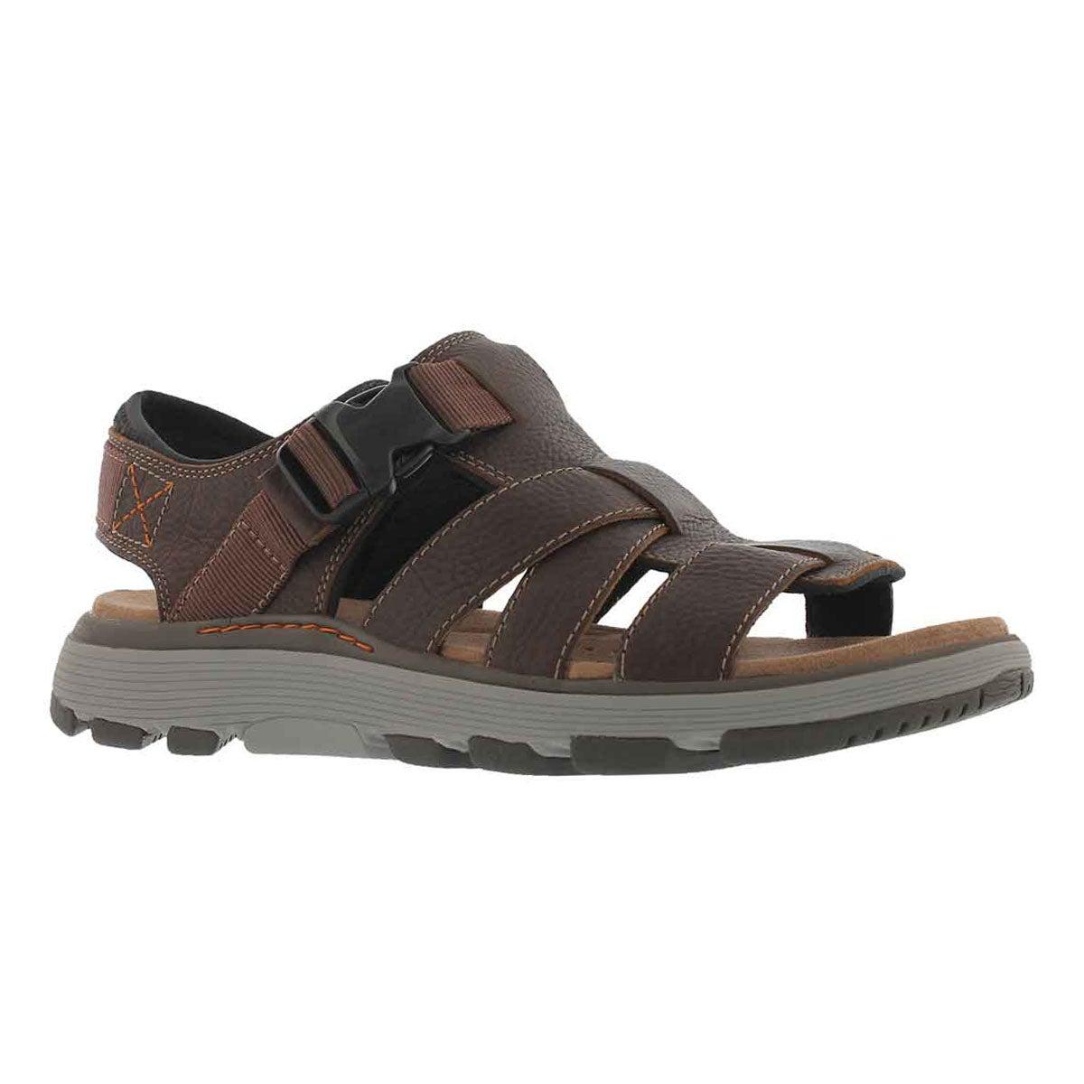 Men's UNTREK COVE dark tan casual sandal