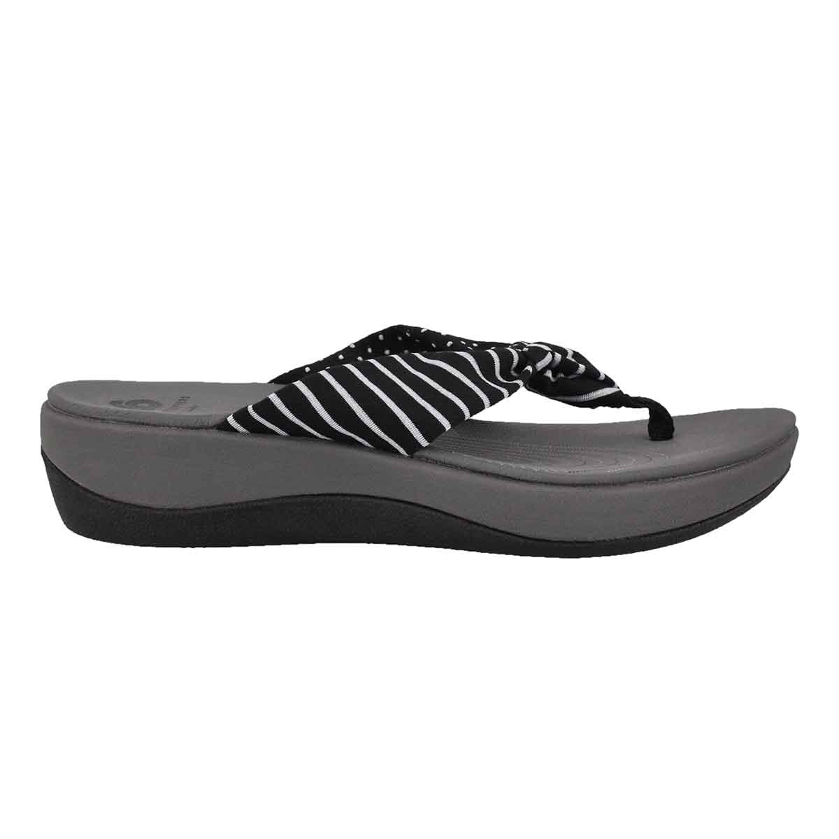 Lds Arla Glison blk prnt wedge sandal