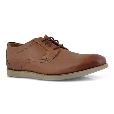 Mns Raharto Plain dk tan dress oxford
