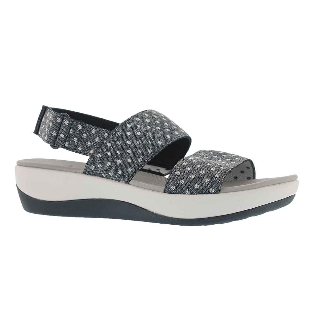 Women's ARLA JACORY navy/white dot wedge sandals