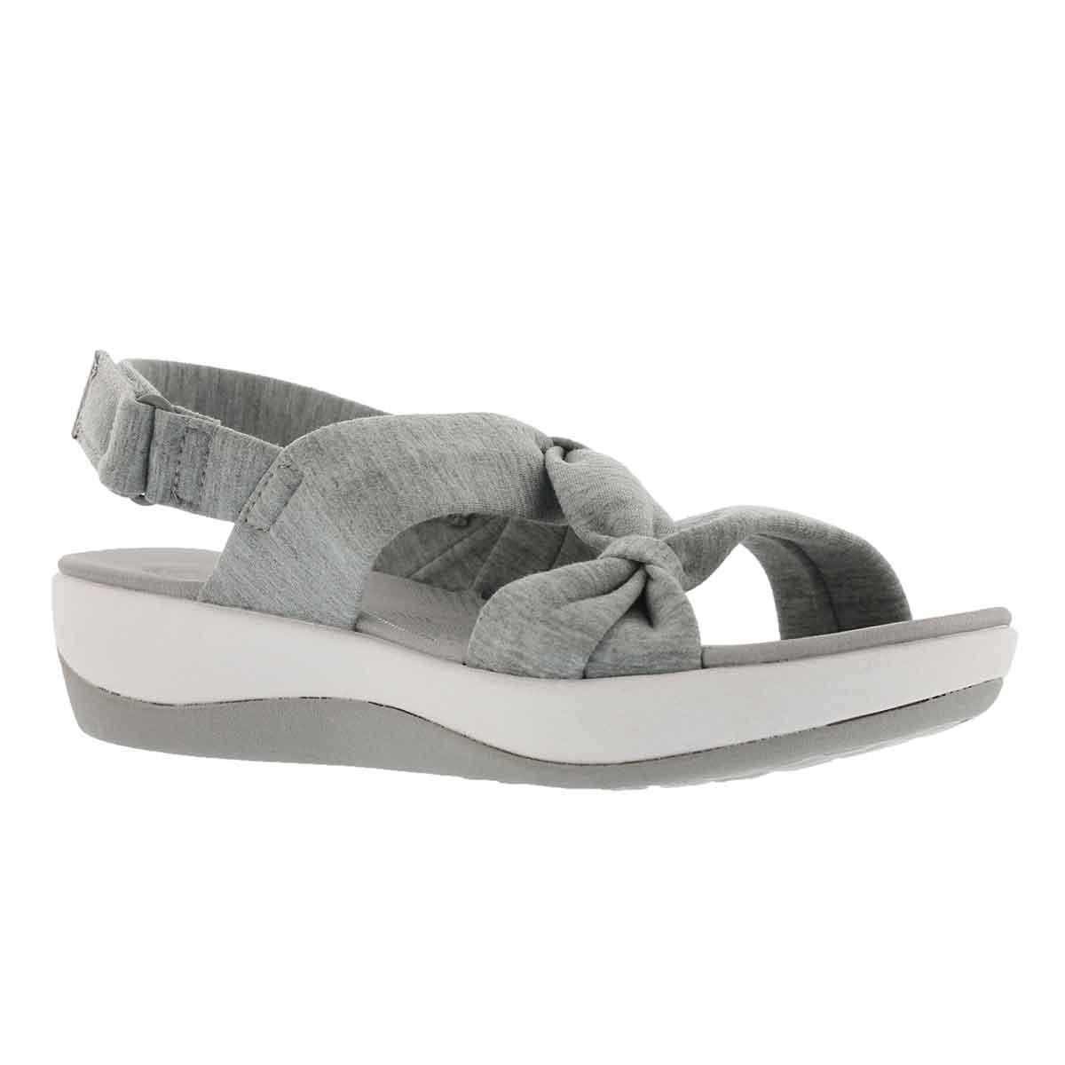 Lds Arla Primrose grey wedge sandal