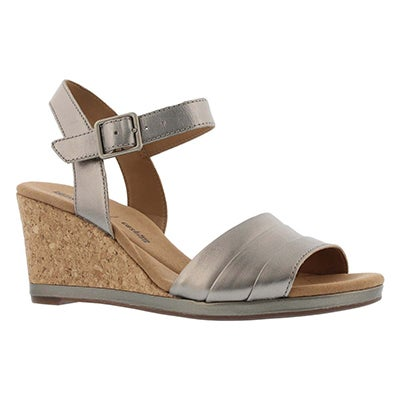 Lds Lafely Aletha pwtr mtlc wedge sandal