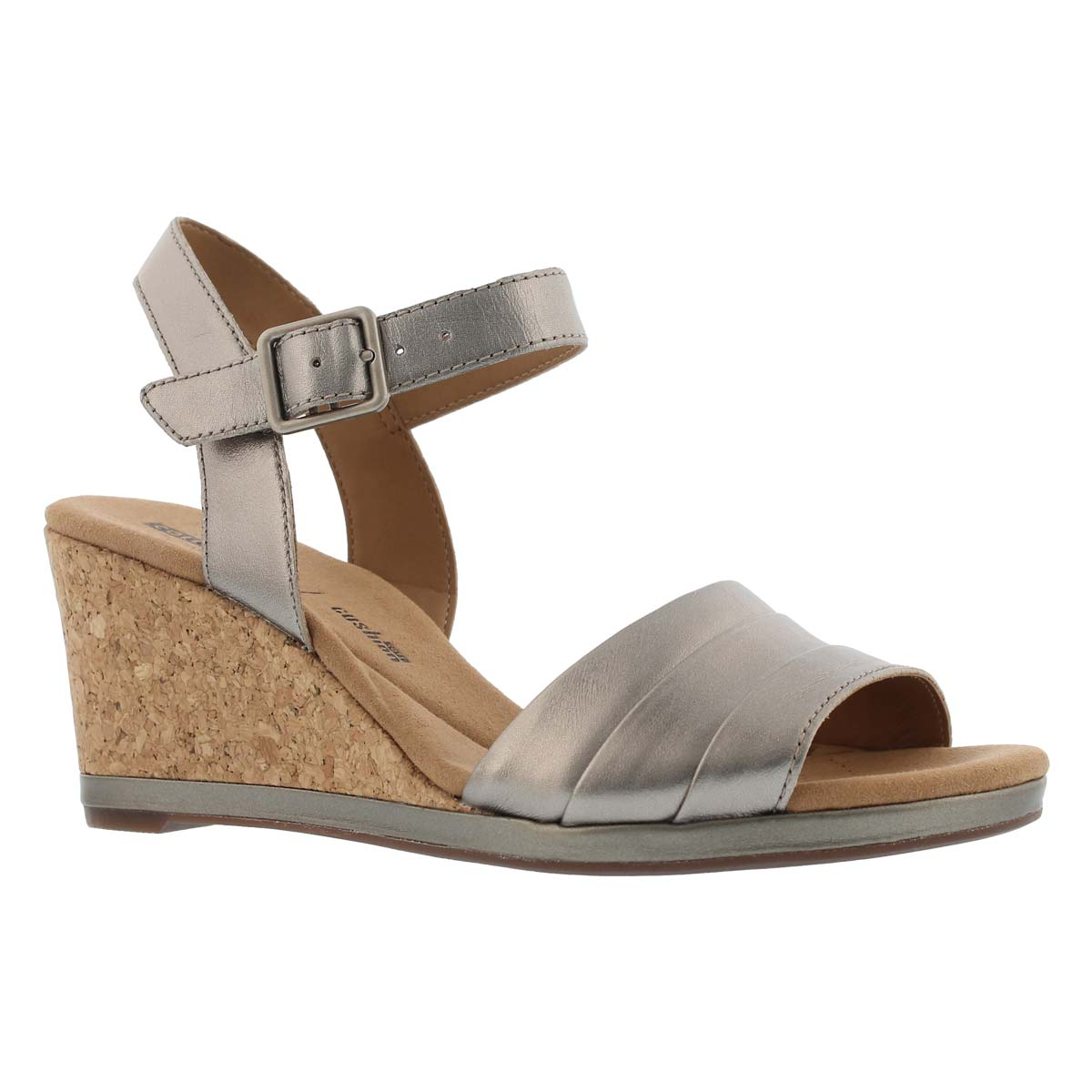 Women's LAFELY ALETHA pwter metallic wedge sandals
