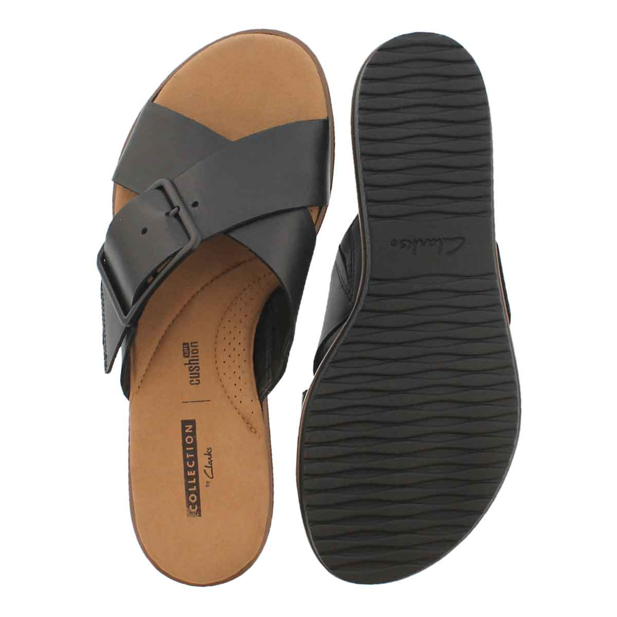 Lds Kele Heather black casual slide sndl