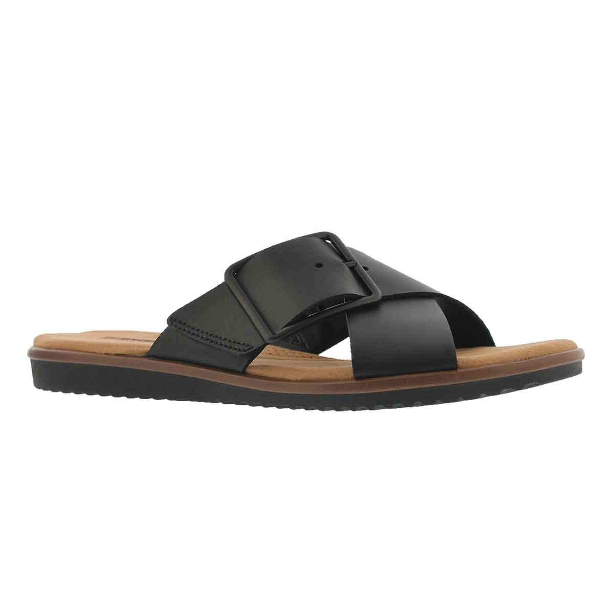 Women's KELE HEATHER black casual slide sandal