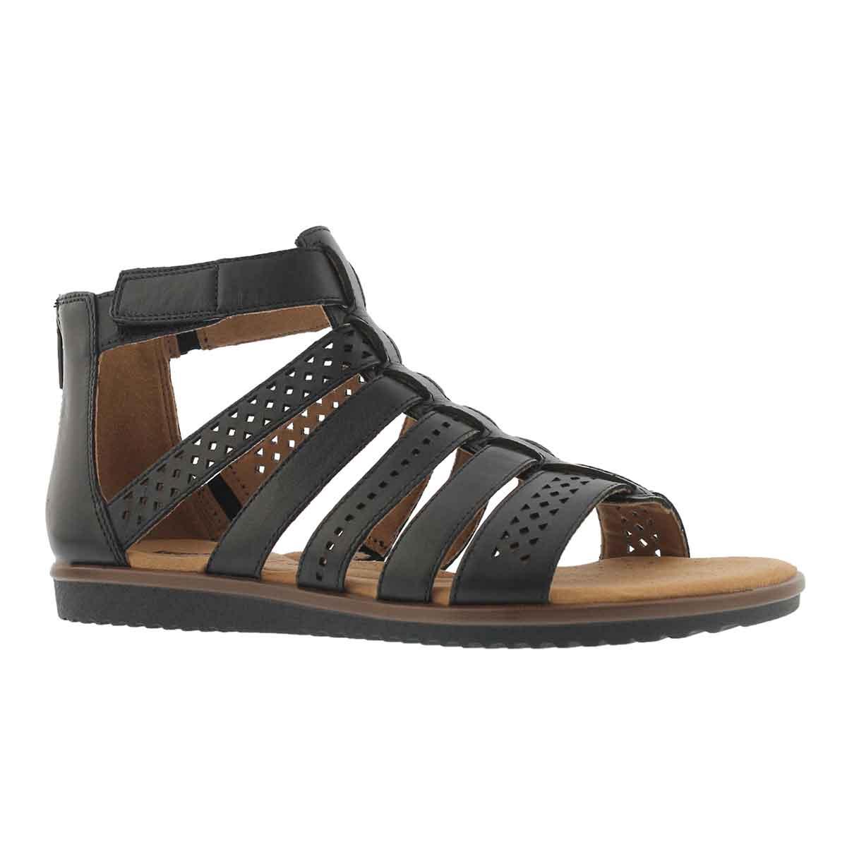 948ac180e Clarks Women s KELE LOTUS black casual sandal