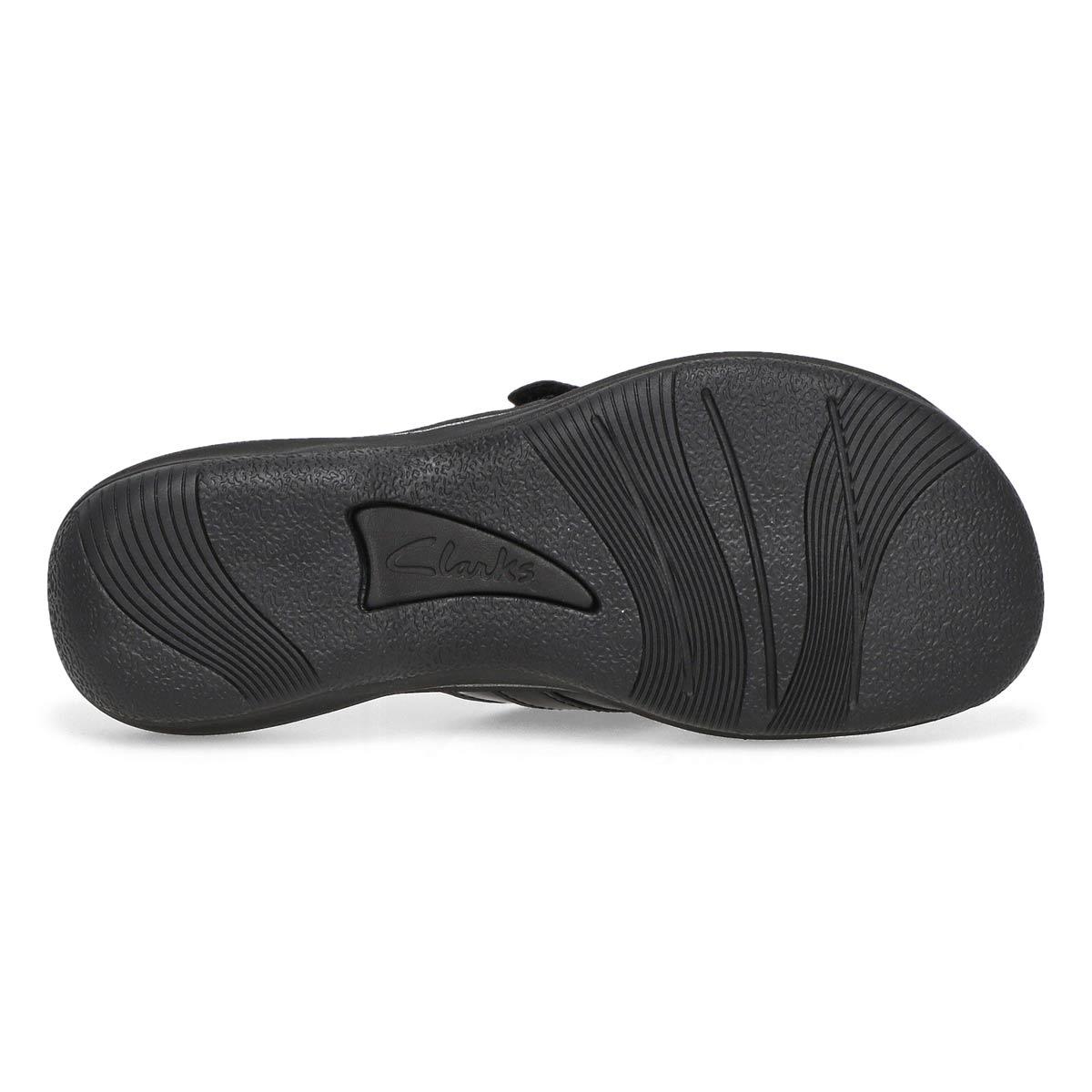 Lds Breeze Sea black pat thong sandal