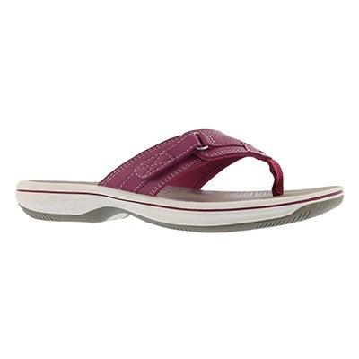 Lds Breeze Sea magenta thong sandal