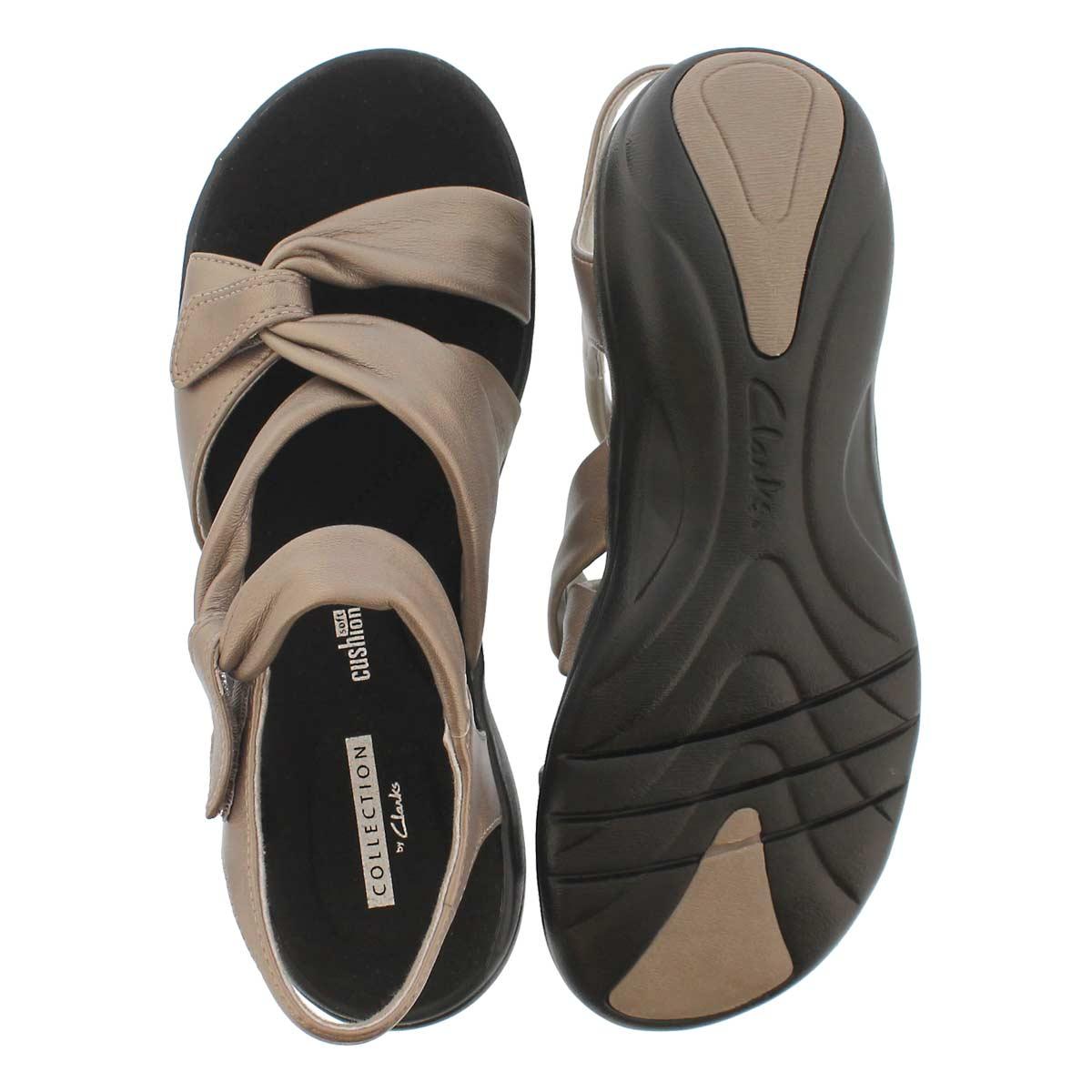 Lds Saylie Moon pwtr mtlc casual sandal