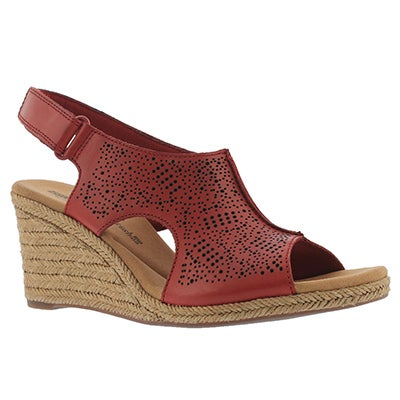 Lds Lafley Rosen red wedge sandal