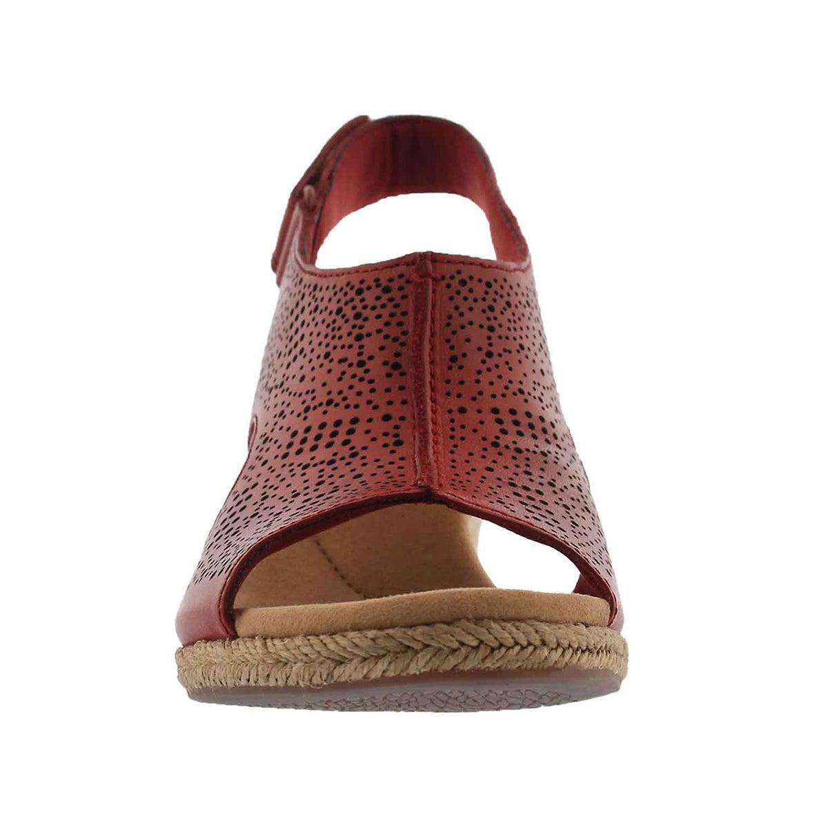 Lds Lafley Rosen red wedge sandal