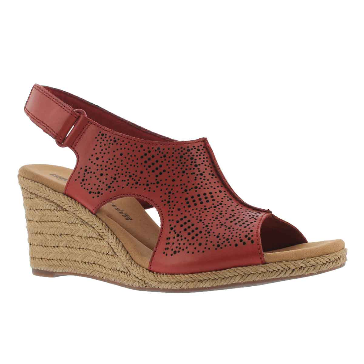 6522d07fff8c Clarks Women s LAFLEY ROSEN red wedge sandal